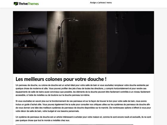 Tout savoir sur la colonne de douche LED