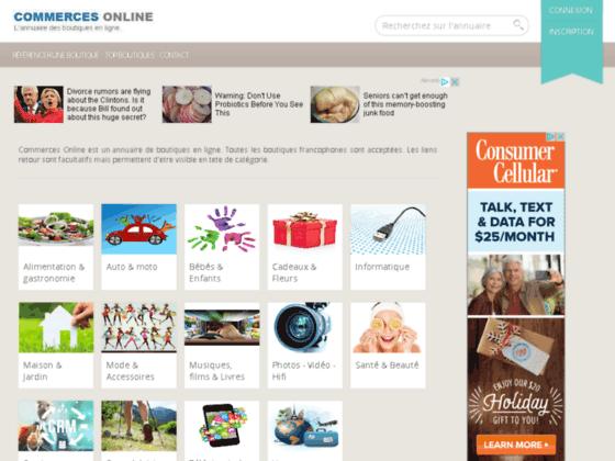 Commerces Online - Annuaire de Boutiques en ligne