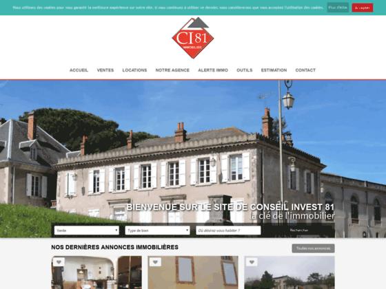 agence immobilière Conseil Invest 81 sur Carmaux