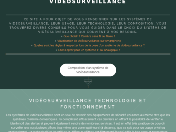 Fonctionnement d'un système de vidéosurveillance