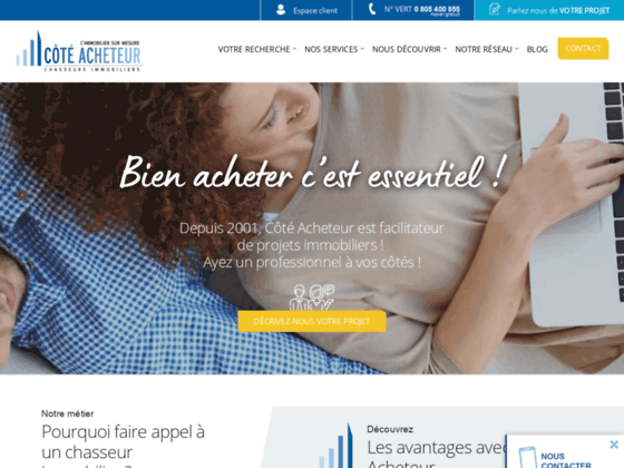 Chasseur immobilier - chasseur d´appartements - Paris et province - COTE ACHETEUR L´immobilier sur m