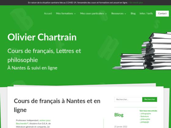 Cours Olivier Chartrain de formation en français