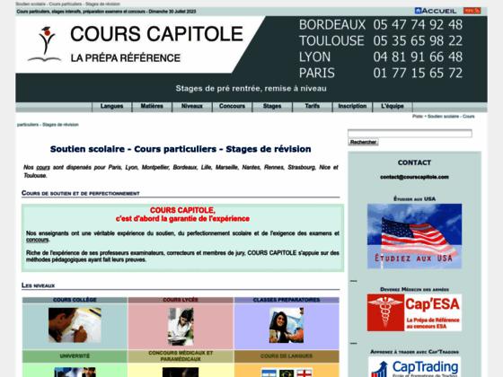 Cours particuliers stages intensifs préparation concours et examens Toulouse [Cours CAPITOLE]
