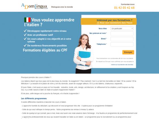 cours italien paris