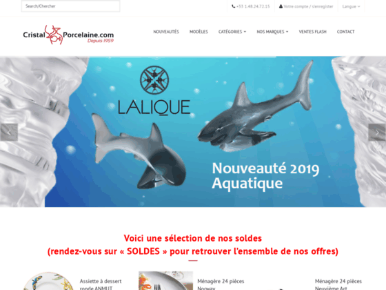 Catalogue en ligne des arts de la table.