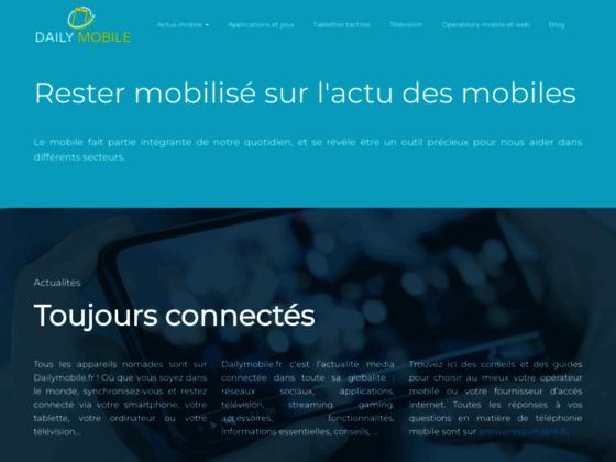 Actualité concernant les smartphones, tablettes et forfaits mobiles : Dailymobile