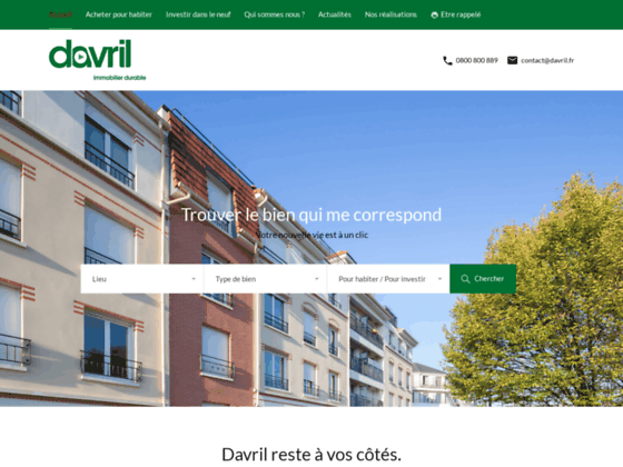 Agence immobilière Davril immobilier 95