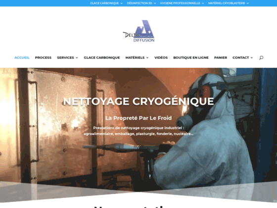 Delta Diffusion: nettoyage cryogénique