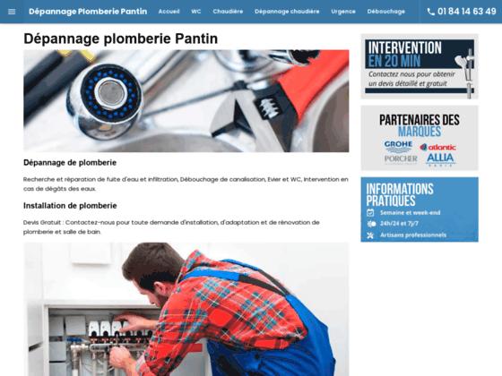 Dépannage plomberie Pantin | Plombier Pantin