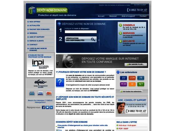Depot-Nom-Domaine.com - Déposer nom domaine