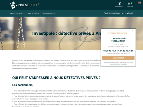 Détective privé à Annecy (74)