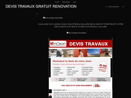 DEVIS TRAVAUX GRATUIT RENOVATION