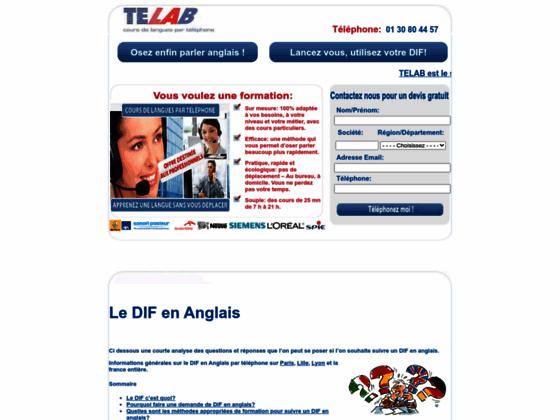 DIF-Anglais.com: Formation DIF en anglais par téléphone