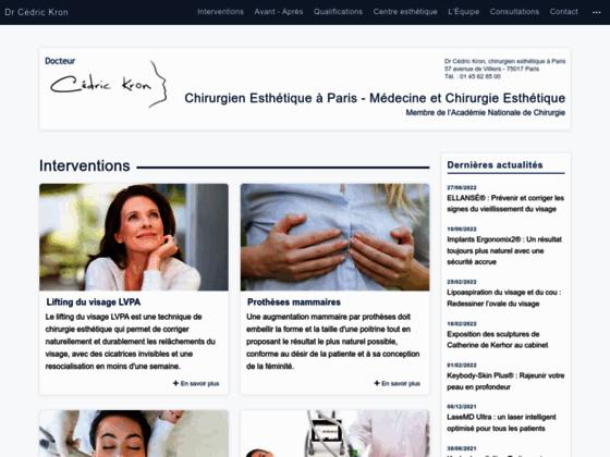 Docteur Cédric Kron Chirurgie Esthétique Plastique