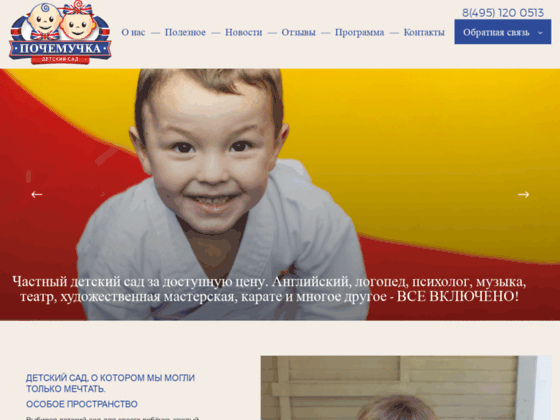 Скриншот сайта ds-pochemuchka.ru