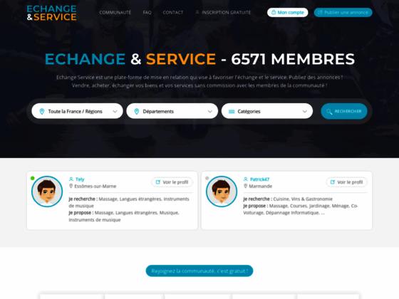 Echange-Service.com - Echange de Services entre Particulier - Recherche par Département