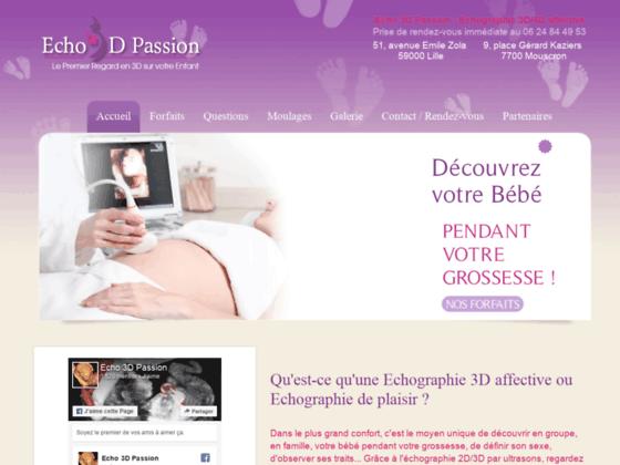 Echo 3D Passion : Echographie 3D Lille Nord