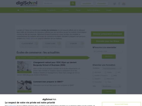 Portail étudiant sur les écoles de commerce - Ecoles2commerce.com