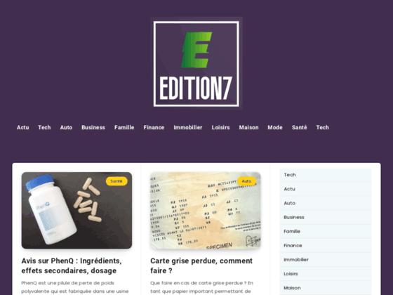 Devenez votre propre éditeur avec édition7