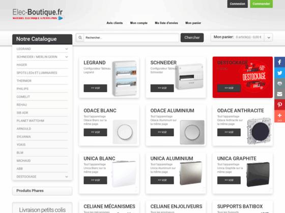 Matériel électrique - Branchement électrique vente en ligne | Elec-boutique Fournisseur de matériel