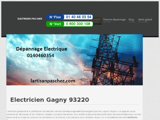 Electricien Gagny