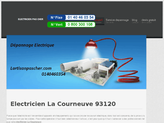 Electricien La Courneuve