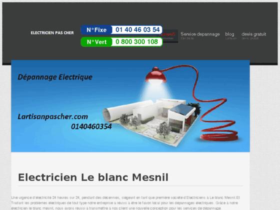 Electricien Le blanc Mesnil