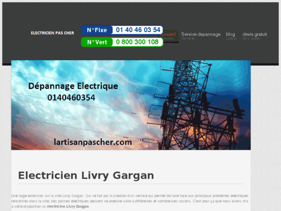 Electricien Livry Gargan