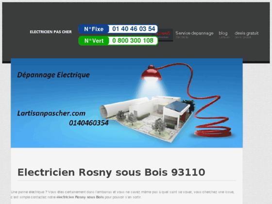 Electricien Rosny sous Bois