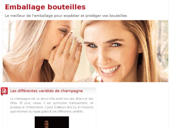 Emballage bouteilles