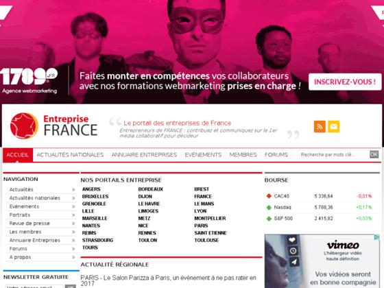 Entreprise-France.com, Actualités régionales des
