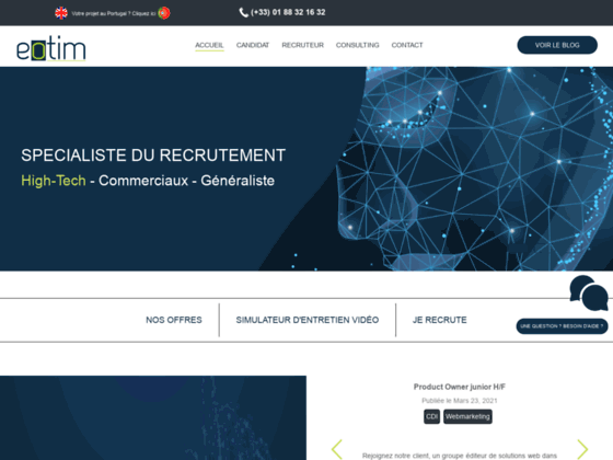 conseil en recrutement Paris -L'agence de recrutement EOTIM - GCS Europe