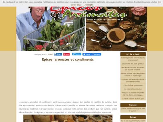 épices aromates et condiments