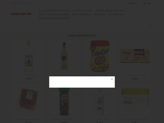 produits espagnols Espanashop