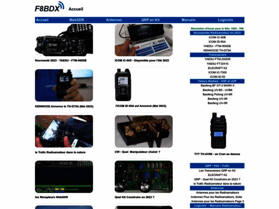 F8bdx,station radioamateur du departement 06.