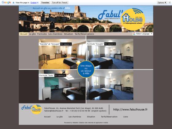 Gîte FabulHouse Albi - Présentation