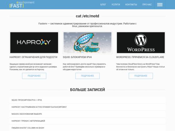 Скриншот сайта fastenv.ru