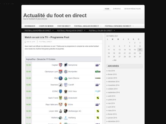football direct et actualité des championnats
