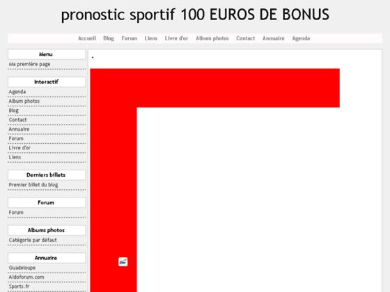 pronostic sportif 100 EUROS DE BONUS