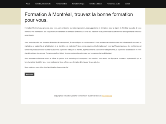 Formation Montréal