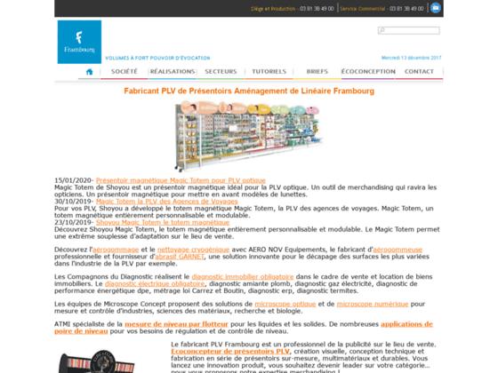 Fabricant Présentoirs de PLV - Frambourg PLV