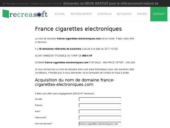 france cigarettes electroniques