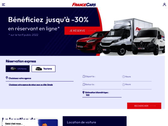 France Cars : Location voiture, location utilitair