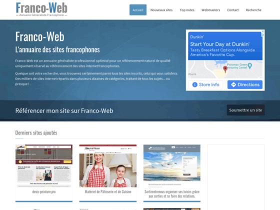 Franco Web, annuaire généraliste gratuit
