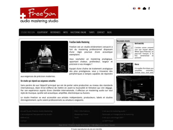 Le studio FreeSon audio mastering, la référence Su
