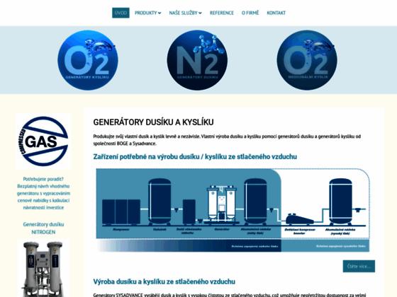 Скриншот сайта www.generator-dusiku.cz