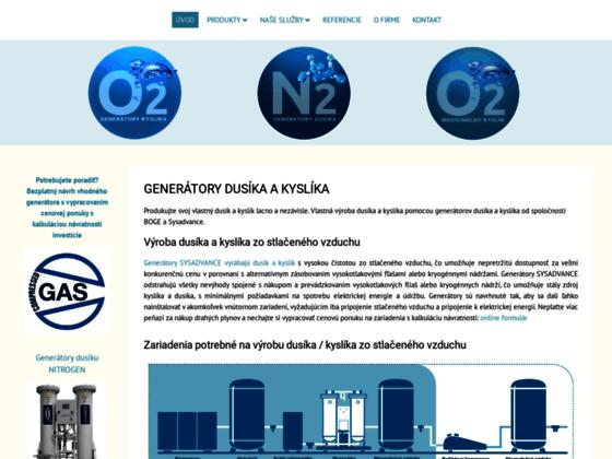Скриншот сайта www.generatory-dusika.sk