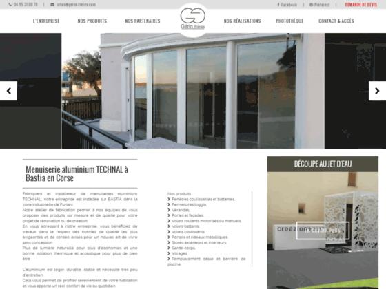 Gerin Frères : Menuiserie aluminium TECHNAL à Bastia en Corse