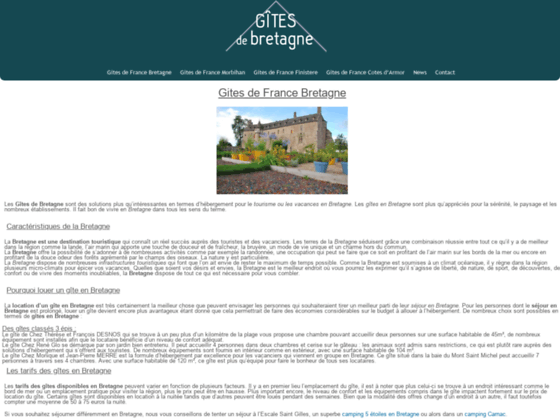 Gites de France Bretagne : location vacances