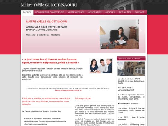 Maître GLIOTT-NAOURI avocat Paris